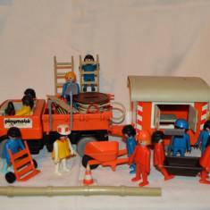 Lot mare Playmobil System Geobra constructii constructori, anii 1974 - 1976 - Jucarie de colectie