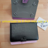 Husa tableta universala de 8 inch mov roz si negru