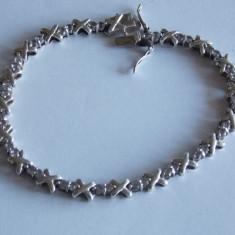 Bratara de argint cu zirconii -1218 - Bratara argint