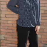 Pantalon lung de toamna-iarna, culoare gri inchis, model tineresc (Culoare: GRI INCHIS, Marime: 42) - Pantaloni dama