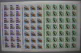 SD Romania 1967 LP 643- Pasari de prada, serie 8 val. in coli de 35, MNH, Nestampilat