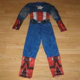 Costum carnaval serbare captain american pentru copii de 7-8 ani - Costum Halloween, Marime: Masura unica, Culoare: Din imagine