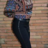 Pantalon modern de culoare bleumarin, model lung cu croi tineresc (Culoare: BLEUMARIN, Marime: 44) - Pantaloni dama