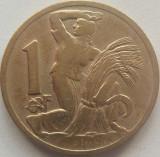 Moneda 1 Coroana - CEHOSLOVACIA, anul 1922 *cod 4184, Europa