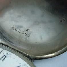 Ceas de buzunar din argint cu lant -Palma Perret&fils -1269 - Ceas de buzunar vechi