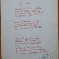 Poezie in manuscris, Victor Eftimiu ; Iubiri inalte, mason, aroman - Autograf