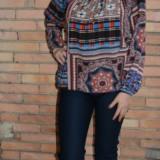 Pantalon drept din material elastic, bleumarin, de toamna-iarna (Culoare: BLEUMARIN, Marime: 44) - Pantaloni dama