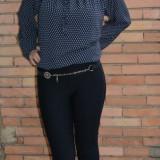 Pantalon comod cu croi tineresc, nuanta bleumarin, model lung (Culoare: BLEUMARIN, Marime: 40) - Pantaloni dama
