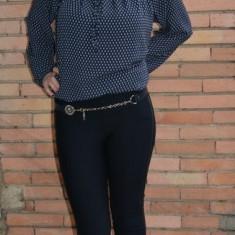 Pantalon comod cu croi tineresc, nuanta bleumarin, model lung (Culoare: BLEUMARIN, Marime: 40)