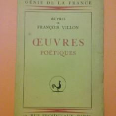 Poesies - Francois Villon 1931 / R7P4F - Carte poezie