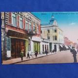 CARTE POSTALA * GALATI , STRADA DOMNEASCA SI CASA HELDER - DEPOSITU I. SARAGA