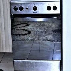 Aragaz hansa fcgx57203030, 42 l, grill, rotisor, aprindere electrica, inox