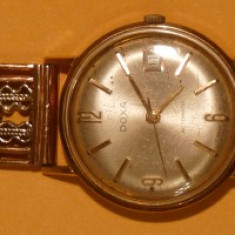 Ceas Doxa din aur, cu bratara de aur - Ceas barbatesc Doxa, Elegant, Mecanic-Manual, Analog
