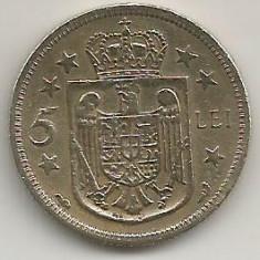ROMANIA MIHAI I REGENTA 5 LEI 1930 [1] PARIS, livrare in cartonas - Moneda Romania, Alama
