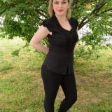 Camasa neagra, clasica, cu maneca scurta si design rafinat (Culoare: NEGRU, Marime: 50)