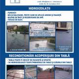 HIDROIZOLARE/REPARATII/RECONDITIONARI TERASE BLOC