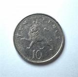 Moneda - 10 Pence 1992 Anglia, Elizabeth II ( Ten Pence ) #240