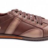 Pantofi barbati casual maro din piele naturala cu siret - Model 599M - Pantof barbat, Marime: 39, 40, 41, 42, 43, 44