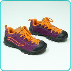 Pantofi sport / adidasi din piele, comozi, calitate, ADVENTURIDGE → fete | nr 31 - Adidasi copii, Culoare: Din imagine, Piele intoarsa