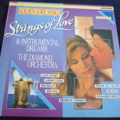 The Diamond Orchestra - Strings Of Love.Golden Love Songs_vinyl, LP, Olanda - Muzica Ambientala Altele, VINIL