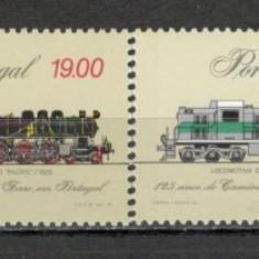Portugalia.1981 125 ani Caile Ferate-Locomotive SP.43 - Timbre straine, Nestampilat