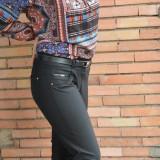 Pantalon lung de toamna-iarna, nuanta de negru, masura mare (Culoare: NEGRU, Marime: 42) - Pantaloni dama