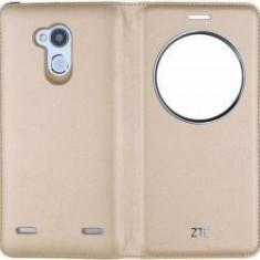Husa View Flip Cover ZTE Pentru ZTE Blade V7 Lite Aurie - Husa Telefon