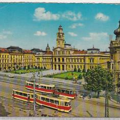 Bnk cp Arad - Centrul orasului - uzata - Kruger 1488/2 - Carte Postala Crisana dupa 1918, Circulata, Printata