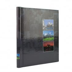 Album foto Mountain Age, 20 file albe, autoadezive, 23x28cm, tip spirala, gri inchis