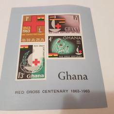 Ghana 1963 crucea rosie/ bloc MNH - Timbre straine, Nestampilat