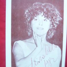 Fotografia cu autograf - Mirabela Dauer 1982