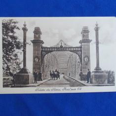 CARTE POSTALA * SALUTARI DIN SLATINA, PODUL PESTE OLT - LIBRARIA SCOALELOR - Carte Postala Oltenia dupa 1918, Necirculata, Printata