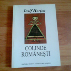 COLINDE ROMANESTI-IOSIF HERTEA - Carte Drept bancar