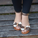 Sanda tinereasca de vara, din piele naturala, nuanta maro-bej (Culoare: MARO-BEJ, Marime: 38)