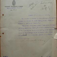 Primaria Sectorului II Negru Bucuresti, adresa din 1935, razboiul chimic - Hartie cu Antet