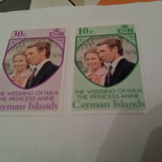 Anglia/colonii/cayman 1977-81 nunta regala / 2 serii MNH - Timbre straine, Nestampilat