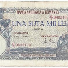 Bancnota 100000 lei 20 decembrie 1946 - Bancnota romaneasca