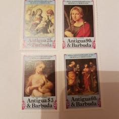 Anglia/colonii/antigua pictura correggio/ serie MNH - Timbre straine, Nestampilat