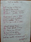 Poezie in manuscris , Victor Eftimiu ; Minti-vom moartea , 1910 , mason , aroman