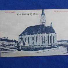 CARTE POSTALA * CLUJ / KOLOZSVAR, BISERICA SF. MIHAIL - NECIRCULATA - Carte Postala Transilvania dupa 1918, Printata