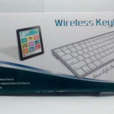Tastatura slim bluetooth alba, Mini tastatura, Fara fir