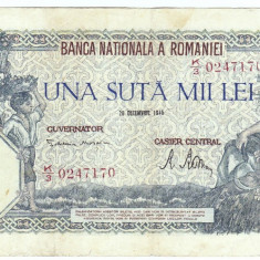 2) Bancnota 100000 lei 20 decembrie 1946