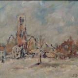 I Isac * Ulei pe panza pe carton * Dimensiuni 30 x 40 cm - Pictor roman, Peisaje, Altul