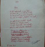 Poezie in manuscris , Victor Eftimiu ; Lunei , 1954 , mason , aroman