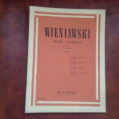 Partitura - Wieniawski studii / capricii pentru vioara - 34 pagini !