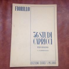 Partitura - F. Fiorillo 36 studii / capricii pentru vioara - 54 pagini !