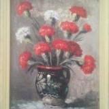 Ion Dobosariu * Pictura in ulei pe carton * Dimensiuni 36 x 47 cm - Pictor roman, Flori, Altul