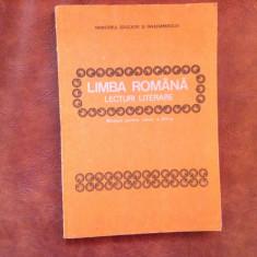 Manual scolar - Limba Romana / lecturi literare clasa VII anul 1989 / 182 pag !, Clasa 4