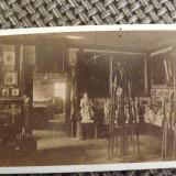 Fotografie din anii 1880.Interiorul unei cladiri din Eger,Ungaria., Alb-Negru, Europa