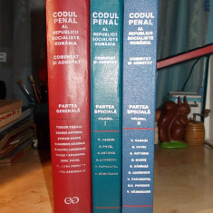 TEODOR VASILIU - CODUL PENAL AL R.S.R._COMENTAT SI ADNOTAT [ 3 VOLUME ]- 1972/77